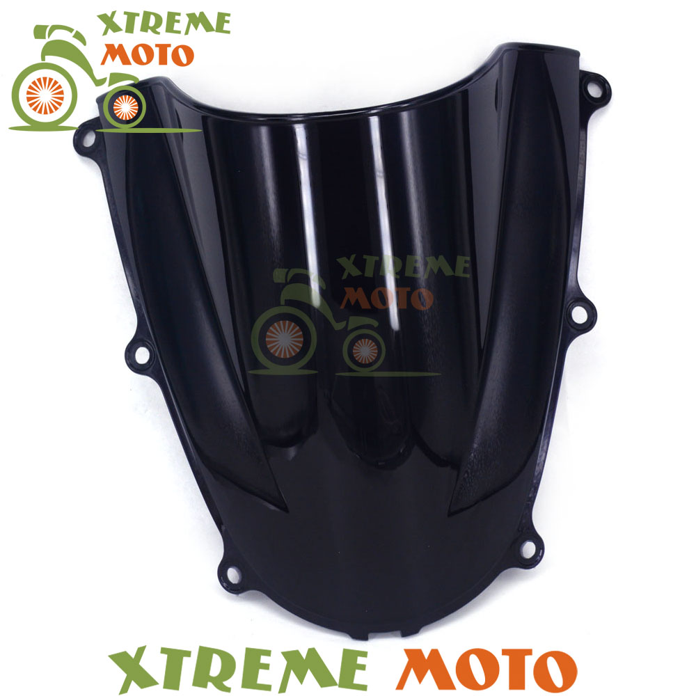 Black Plastic Motorcycle Windscreen Windshield For <font><b>CBR</b></font> <font><b>600</b></font> RR CBR600RR F5 <font><b>2005</b></font> 2006 Motocross Motorbike Dirt Bike image