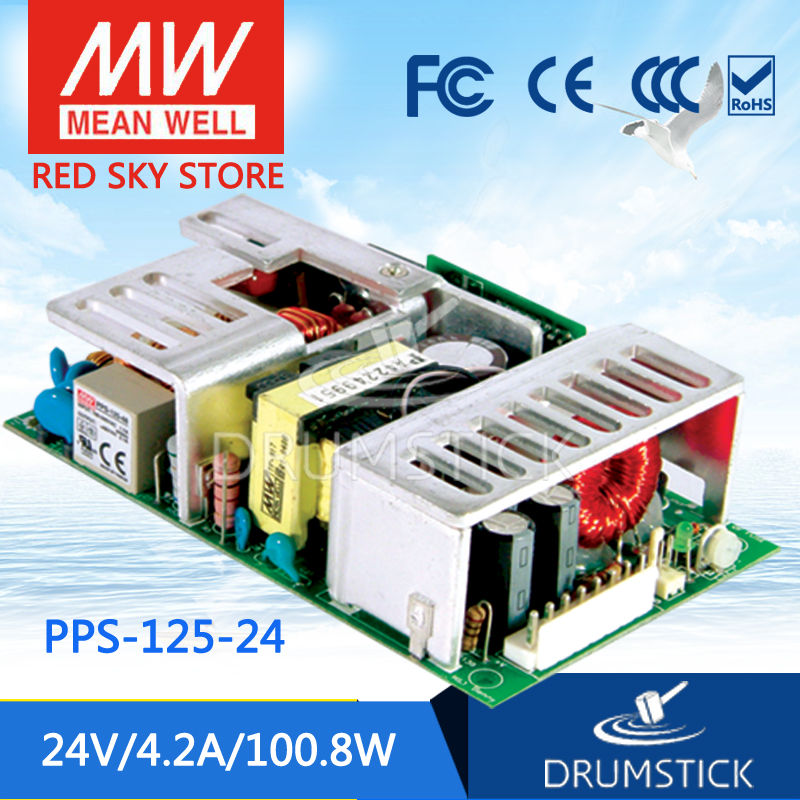 ФОТО Redsky1 [YXYW] Hot! MEAN WELL original PPS-125-24 24V 4.2A meanwell PPS-125 24V 100.8W Single Output with PFC Function