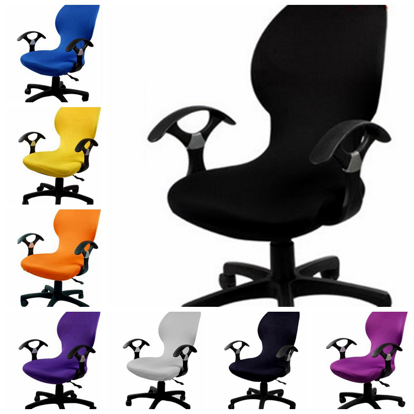 Lycra Office Computer Chair Cover Fit For Office Chair With Armrest Spandex Chair  Cover Decoration Wholesale