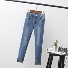 Hot Selling Spring Autumn Mid Waist Woman Skinny Jeans Femme Stretch Ladies Slim Denim Pants Trousers For Women