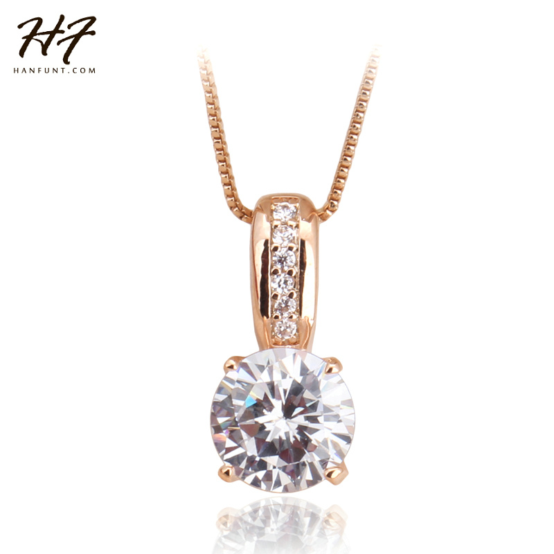 Top Quality Rose Gold Color Classic AAA+ Cubic Zirconia Cryss