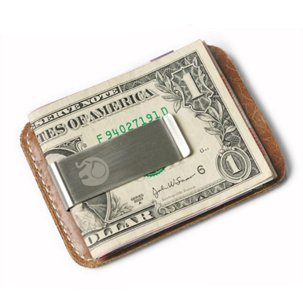 BYCOBECY натуральная кожа карты бумажник из металла Для мужчин карты Pack Slim счета денежных Зажимы для денег тонкий бумажник держатель