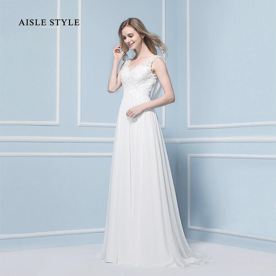 2017 Boho Vestidos de Novia Vintage de Encaje Apliques Largo Sin ...