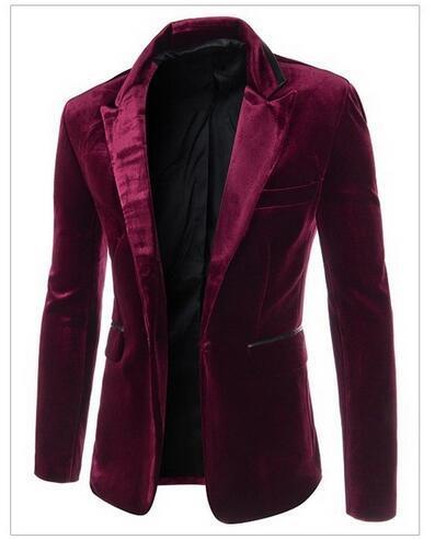 Новый шелковый Тонкий вельвет костюм торговля a однобортный костюм