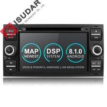 Isudar штатная магнитола автомобилый плеер DVD с gps навигатор 2 din с 7 дюймовым экраном android 8.1 для автомобилей Ford/Mondeo/Focus/Transit/C-MAX/S-MAX/Fiesta 2GB RAM  Радио
