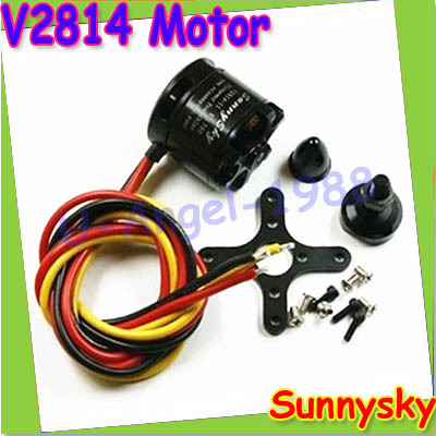 SunnySky V2814 Brushless Motor 700KV 800KV 870KV for RC Aircraft Quadrocopter Multicopter