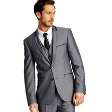 Charming fashion the groom wedding suits high qulity three-piece men's wedding tuxedos fashion groom tuxedos(jacket+pants+vest)
