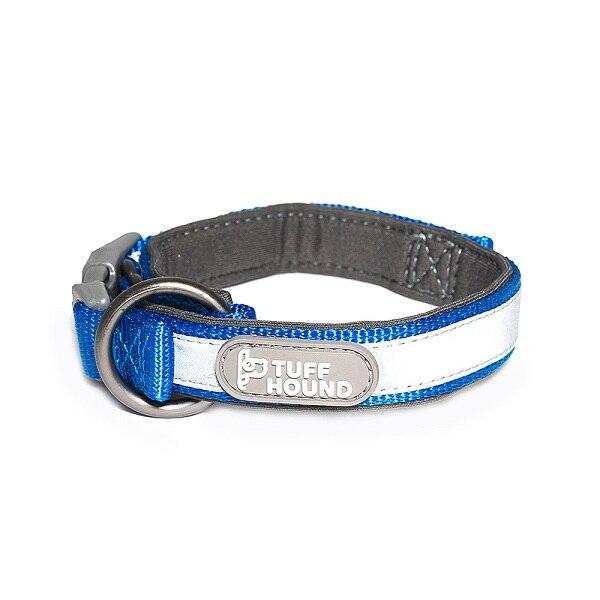 Светоотражающий нейлоновый Собачий Ошейник Домашние животные и поводок набор ошейник для котят и щенков шнур для поводка для маленьких средних больших собак аксессуары - Цвет: Blue collar