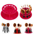 10pc Toothbrush Oval Makeup Brush Holder Stand Display Shelf Organiser For Makeup Brushes Tools