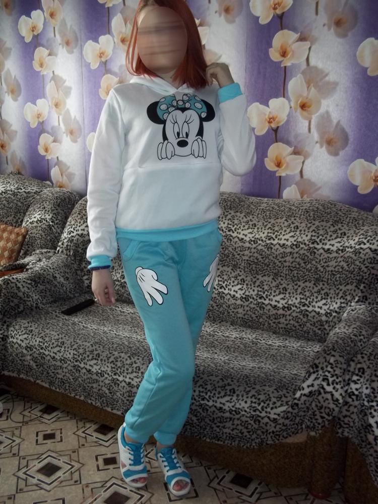 XUANSHOW Women Set Casual Sportswear Cute Ear Cartoon Mouse Printed With Hooded long-sleeved Suit Tenue Tracksuit  Femme HTB1 al7RFXXXXbfXVXXq6xXFXXXa