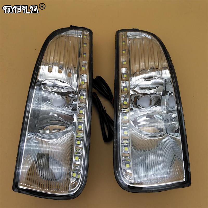 LED Light For Skoda Superb MK2 2008 2009 2010 2011 2012 2013 Car-Styling LED DRL Daytime Running Light With Wire Of Harness Kit цены