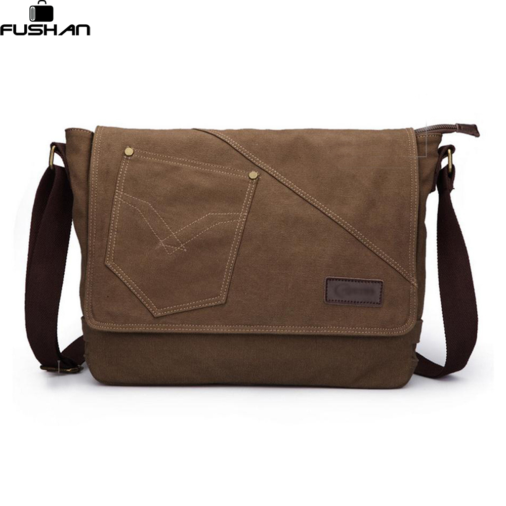 96844ae4ea new High Quality Men Messenger Bags Canvas Vintage Crossbody Satchel  Shoulder Men s School Book Bag Casual