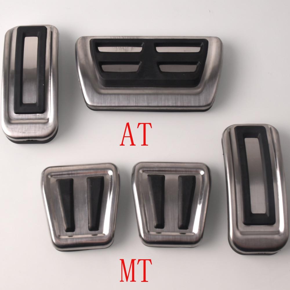 ZHHRHC Aluminium Alloy Car Pedal Rest Pedal Acceleration Pedal Auto Parts Brake Pedal,Fit for Mazda 3 Mazda3 M3 Hatchback 2006-2012
