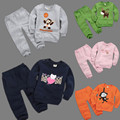 New children Outfits Tracksuit cartoon Clothing baby girls Hoodie + Pants Kids Sport Suit  Boy's fleece clothing Set