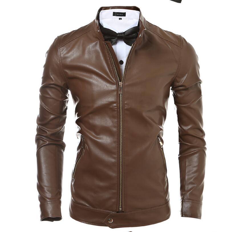 negozio online 5b069 39c05 E Giubbotti Cappotti Modo Mens Giacca Amazon Di brown Pelle ...