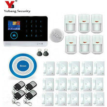 YobangSecurity Touch Keypad Wireless Wifi GSM Home Security Burglar Alarm System Wireless Strobe Siren Smoke Fire