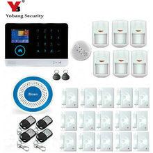 YobangSecurity Touch Keypad Wireless Wifi GSM Home Security Burglar Alarm System Wireless Strobe Siren Smoke Fire