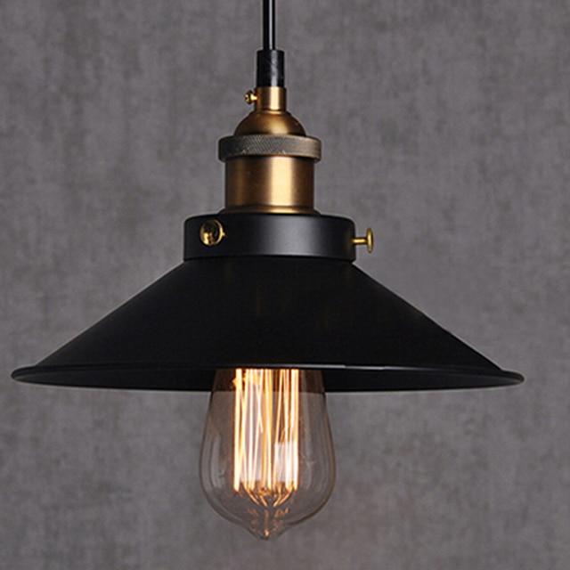 Vintage Lamp Nordic Pendant Lights Edison Bulb Suspension Luminaire Coffee Lighting Dia 22cm 110v 220v