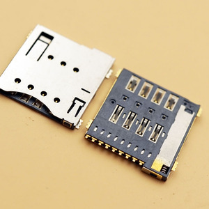 Connecteur de carte Micro SIM | 100 pièces, Patch Original de connecteur de carte SIM 6 + 1 P / 8 + 1 P, fentes pour carte SIM