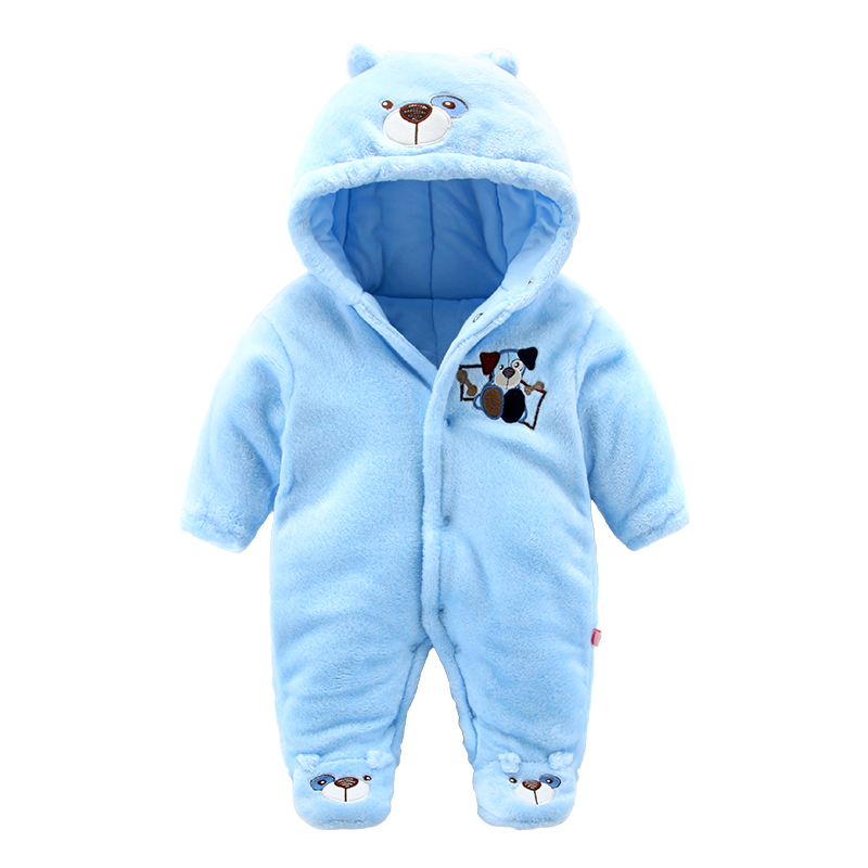 2018 fleece infant winter clothing soft bear style newborn baby boy clothes warm Winter overalls for a boy costume coats creative mustache style infant pacifier