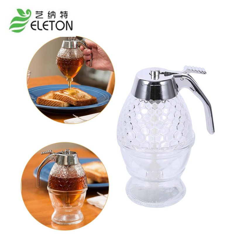 200ml Honey Dispenser Jar Container Cup Juice Syrup Kettle