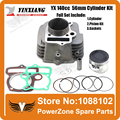 YinXiang YX 140cc 56mm Cylinder + Piston + Gasket  Kit Fit  KAYO IRBIS GPX PIT PRO Dirt Bike Pit Bike Engine  Free Shpping
