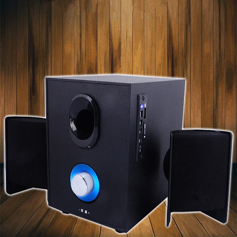 Electronics hot 2.1 delux multimedia audio computer Bluetooth speakers USB Interface Wooden black classic home Laptop Subwoofer dali 16 1 3а