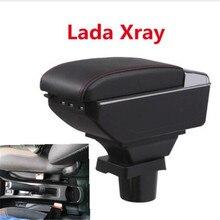 Для Lada Xray подлокотник коробка центральный магазин содержание коробка для хранения Лада подлокотник коробка с подстаканником пепельница USB интерфейс