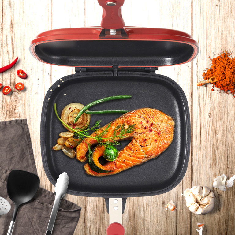 Us 38 05 New Dessini Cook Fry Pan Non Stick Pan Handy Frying Pan Double Side Grill Pan 28cm In Pans From Home Garden On Aliexpress
