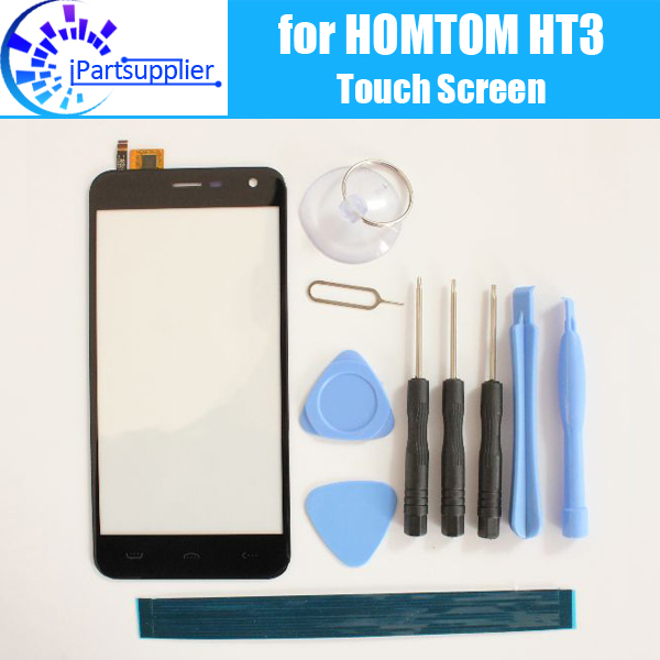HOMTOM HT3 Touch Screen Digitizer 100% Guarantee Original Digitizer Glass Panel Touch Replacement For HOMTOM HT3 + Tools