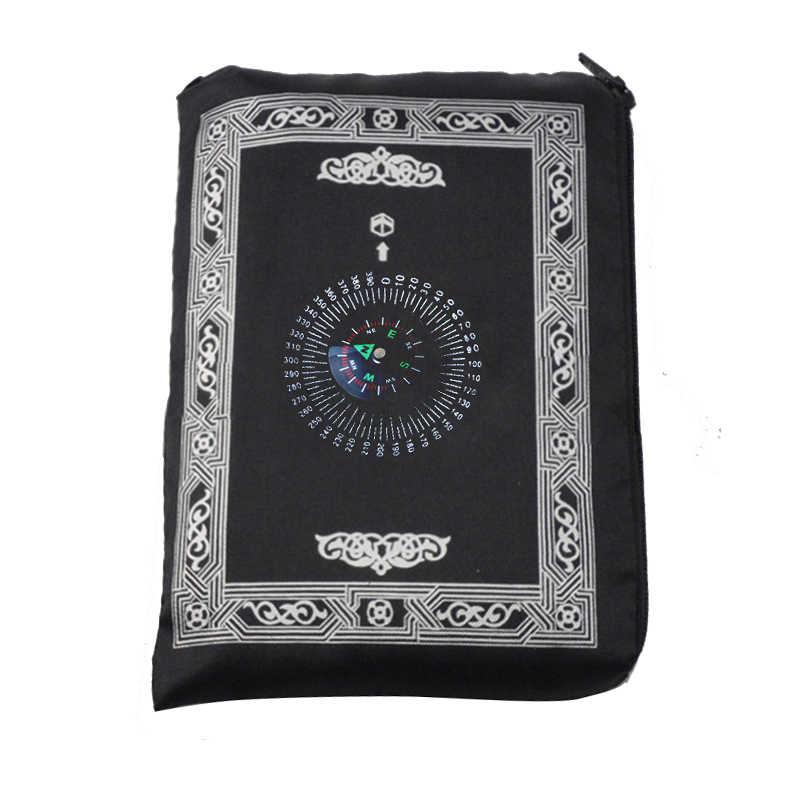 Muslimischen Gebet Teppich Polyester Tragbare Geflochtene Matten Einfach Drucken mit Kompass In Reise Hause Neue Stil Matte Decke 100*60cm