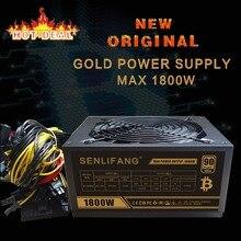 Новый оригинальный золотой мощность 1800 Вт btc источника питания для R9 380 RX 470 RX480 6 GPU карты 1 года гарантии бесплатная доставка