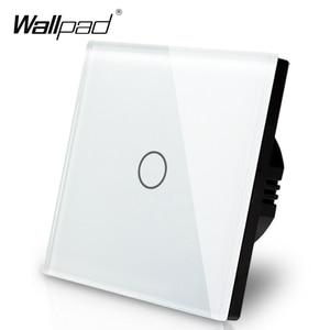 Image 1 - Manufacturer Wallpad EU Standard 1 Gang 2 Way 3 Way Control White Wall Light Touch Screen Switch Glass Panel, Free Shipping
