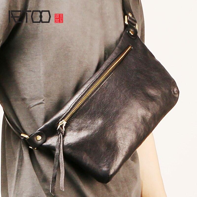 Bagaj ve Çantalar'ten Bel Paketleri'de AETOO Erkek deri göğüs çantası, moda trendi eğik çanta, çok fonksiyonlu kafa tabakası inek derisi çanta'da  Grup 1