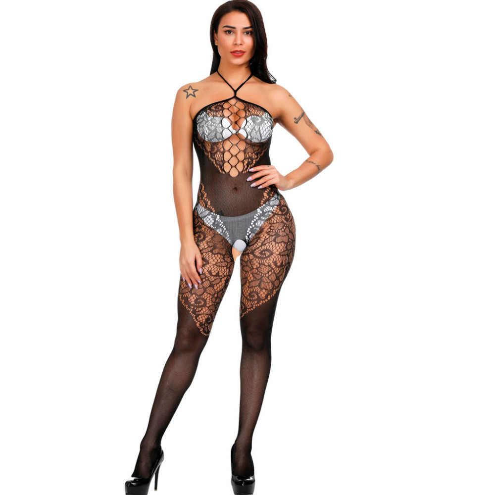 Боди с открытой промежностью Боди Комбинезон сексуальное Эротическое белье с вырезами сетчатый порно сексуальный нижнее белье костюмы