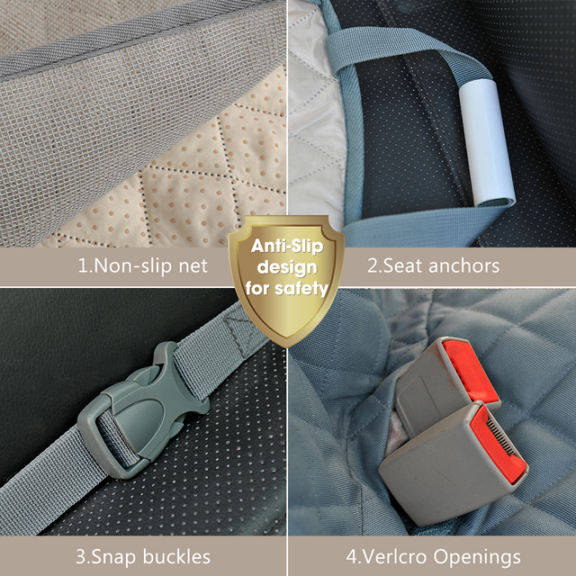 Dog Car Seat Cover Waterproof Pet Transport, Dog Carrier on Car BackSeat Protector, Mat Car Hammock for Puppies, Small, Large Dogs. Pet Accessories cb5feb1b7314637725a2e7: Black|Grey