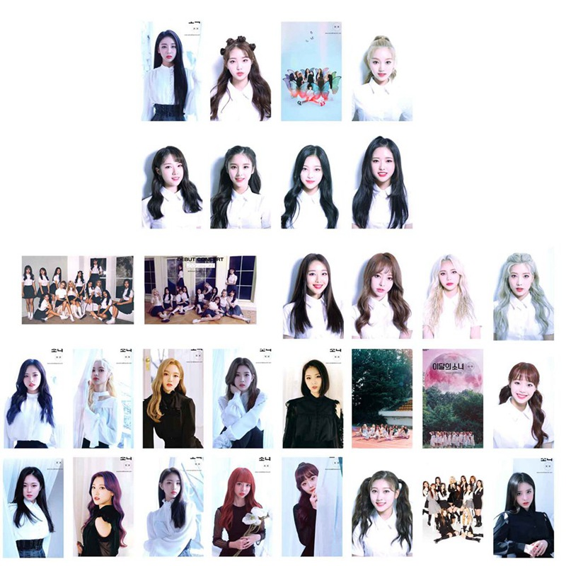 30Pcs/Set LOONA Butterfly Album Self Made Paper Lomo Card Photo Card Poster Photocard Fans Gift Collection