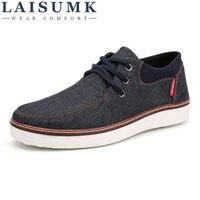 2018 LAISUMK Men Casual Shoes Big Size 39 46 Canvas Shoes For Men Driving Shoes Soft
