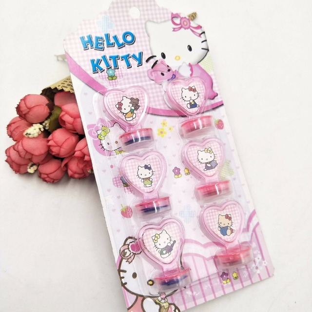 Birthday Party Supplies 6pcs Set Hello Kitty Party Decoration Rubber