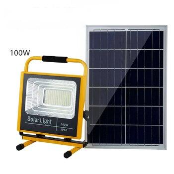 ใหม่ทิวทัศน์โคมไฟพลังงานแสงอาทิตย์สำหรับกลางแจ้ง 25W 40W 60W 100W โคมไฟ led พลังงานแสงอาทิตย์ไฟเต็นท์
