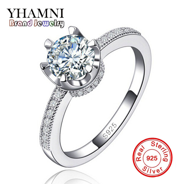 c9500ca9b53ce US $8.15 49% OFF|925 Sterling Silver Vintage Rings For Women Wedding Rng  Fashion Engagement Ring Fashion CZ Diamant Jewelry Bijoux AR118-in Wedding  ...