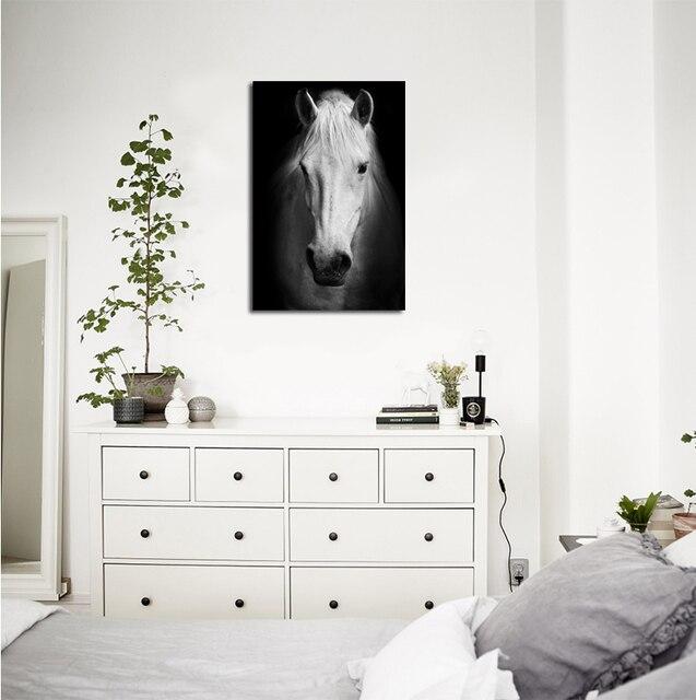 Aliexpress.com : Schwarz und weiß pferd malerei leinwand pferd ...