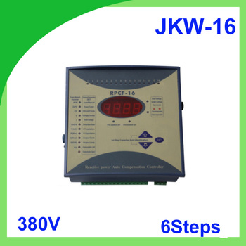 JKW-16 power factor 380v 6steps 50/60Hz JKW16 RPCF Power regulator factor Compensator Digital Power Factor Meter фото