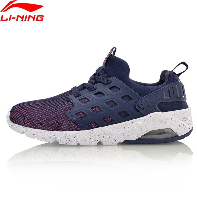 Li-Ning/женская уличная прогулочная обувь, дышащие кроссовки с подкладкой из пряжи, спортивная обувь, AGLM022 YXB066