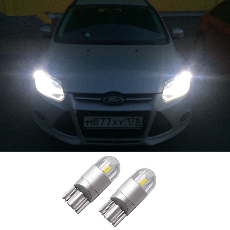 2x T10 W5W 168 Car LED Clearance Parking Lights For Ford Focus 3 2 1 mondeo mk4 transit fiesta fusion <font><b>Mustang</b></font> Kuga Ranger F-150 image
