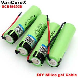 VariCore New Original NCR18650B 3.7 v 3400mAh 18650 Li-ion Rechargeable Battery Welding Silica gel Cable DIY