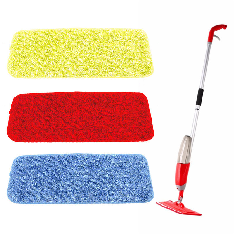 Commercial Mop Head Alpine Industries Heavy Duty Microfiber Mop Head Super Absorbent Mop 24 in, 2 Pack Cleans Wide Areas