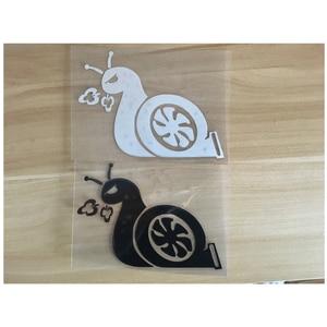 Image 4 - Reinforced Accelerating Snail JDM Turbo Power Sticker Car Window Vinyl Sticker Car Decal Black / Sliver #B1422