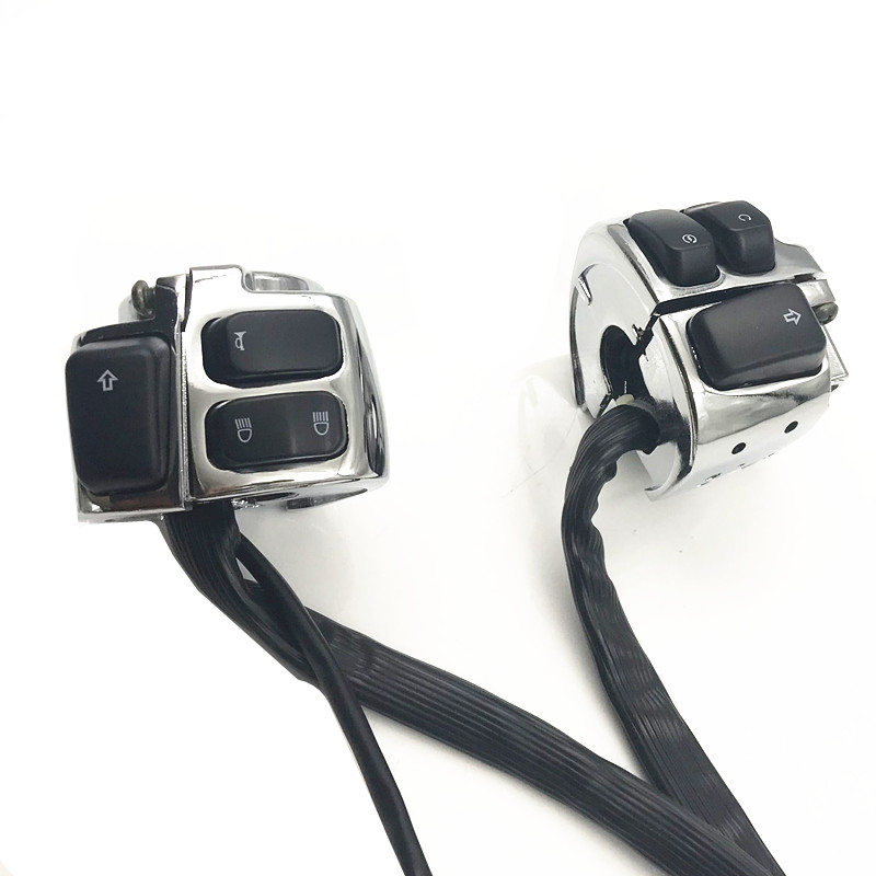 1 25mm Motorcycle Handlebar Control Switches W Wiring Harness For Harley Dyna Softail Sportster 1200 883