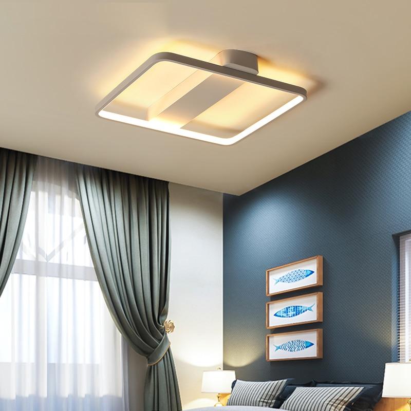 LED Ceiling Lamp Modern Plafonnier Light Black White Square Lighting Luminaire Living Room Bedroom Kitchen Lamparas De Techo